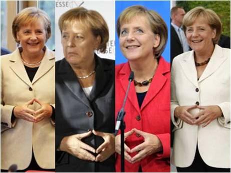linguaggio del corpo Merkel