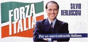 """Manifesto Berlusconi Forza Italia Politiche 1994 """"Per un nuovo miracolo italiano"""""""