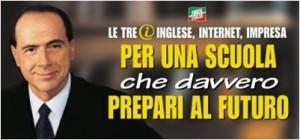 Manifesto Berlusconi Forza Italia Politiche 2001