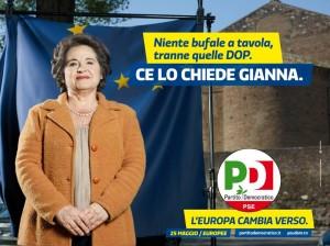 Manifesto campagna comunicazione Pd europee