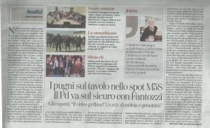 """""""La Stampa"""", 26 aprile 2014. Il commento di Massimiliano Cavallo e altri comunicatori"""
