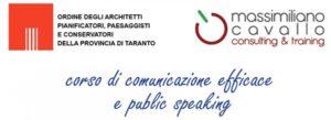 Corso di comunicazione Ordine Architetti Taranto e Massimiliano Cavallo