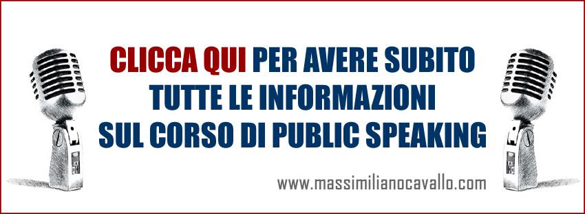 Corso public speaking parlare in pubblico