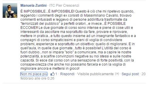 Testimonianza di un corsista di Massimiliano Cavallo