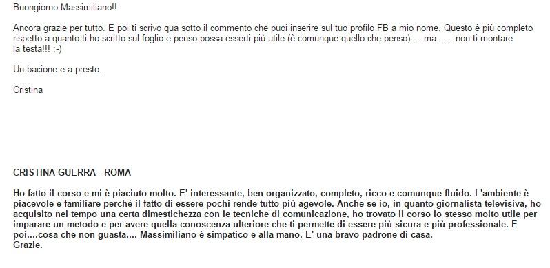 testimonianza Public Speaking Massimiliano Cavallo