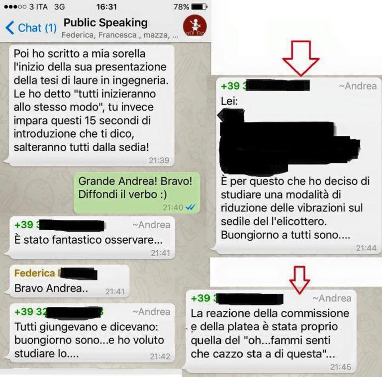 corso public speaking parlare in pubblico Roma