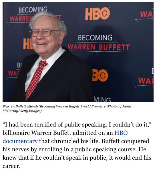 Anche Warren Buffet ha fatto un corso di public speaking