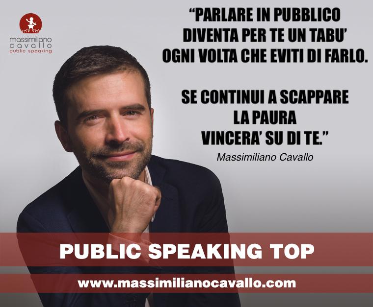 Come vincere la paura di parlare in pubblico con il Metodo Public Speaking Top