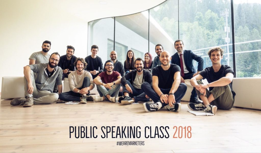 Dario Vignali e Marketers al Corso Public Speaking Top