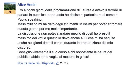 opinioni corso public speaking