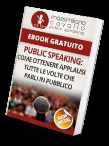 Ebook gratuito di public speaking Massimiliano Cavallo